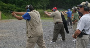 Staff shooting the qualification